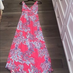 Lilly Pulitzer Jersey Maxi dress in coral print